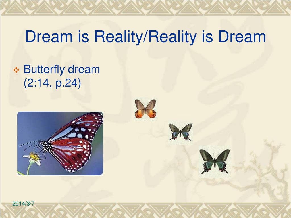 Dream is Reality/Reality is Dream