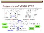 formulation of mimo stap