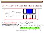 pswf representation for clutter signals