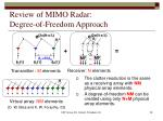 review of mimo radar degree of freedom approach