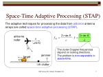 space time adaptive processing stap