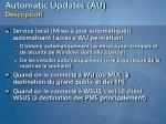 automatic updates au description