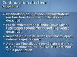 configuration du client suggestions59