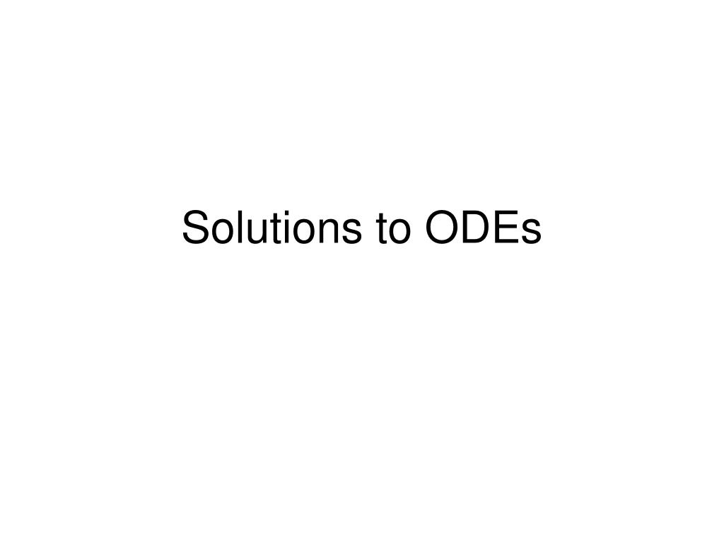 solutions to odes l.
