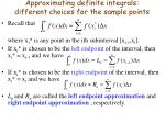 approximating definite integrals different choices for the sample points