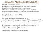 computer algebra systems cas