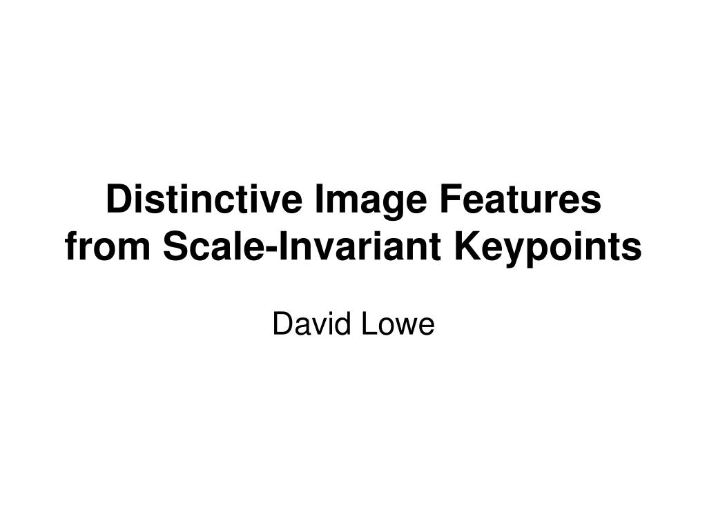 distinctive image features from scale invariant keypoints l.