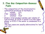 3 flue gas composition gaseous fuels