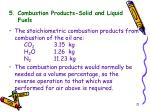 5 combustion products solid and liquid fuels