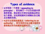 types of evidence14