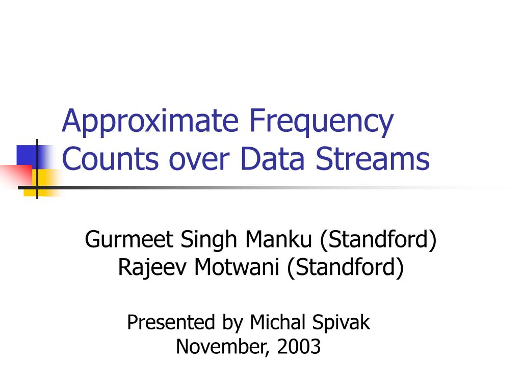 approximate frequency counts over data streams l.