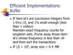 efficient implementations buffer