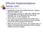 efficient implementations setgen cont71
