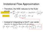irrotational flow approximation21