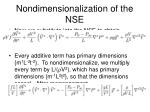 nondimensionalization of the nse7