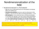 nondimensionalization of the nse9