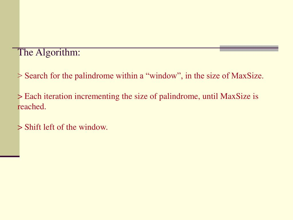 The Algorithm: