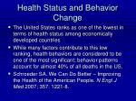 health status and behavior change
