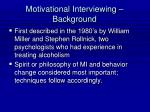 motivational interviewing background