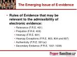 the emerging issue of e evidence52