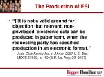 the production of esi31