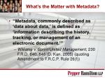 what s the matter with metadata
