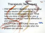 therapeutic techniques