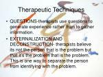 therapeutic techniques19