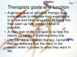 therapists goals and function