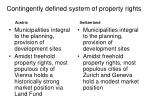 contingently defined system of property rights