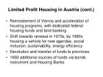 limited profit housing in austria cont