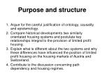 purpose and structure