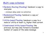 multi copy schemes