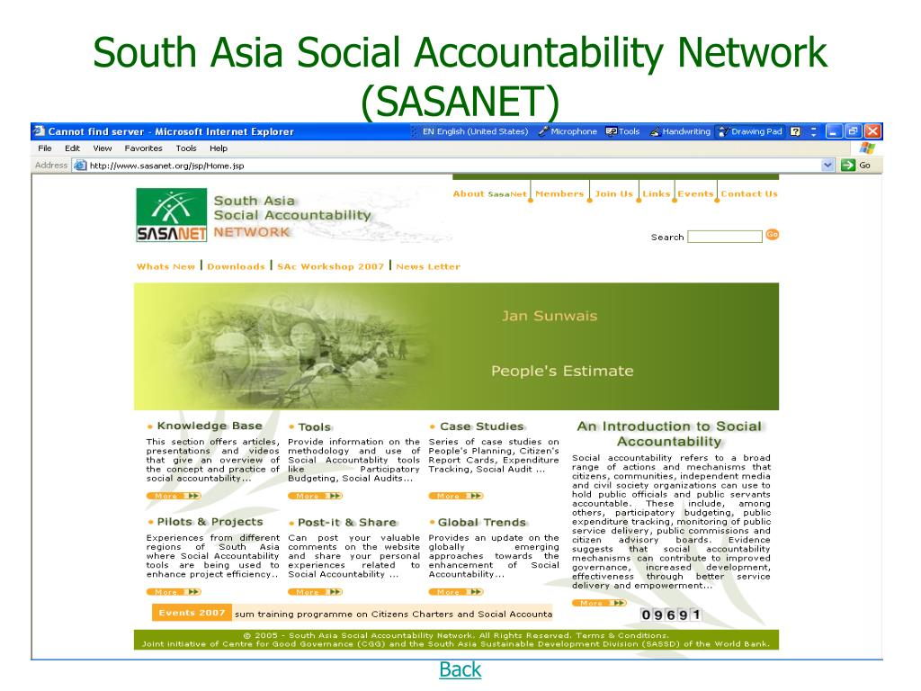 South Asia Social Accountability Network (SASANET)
