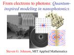 from electrons to photons quantum inspired modeling in nanophotonics