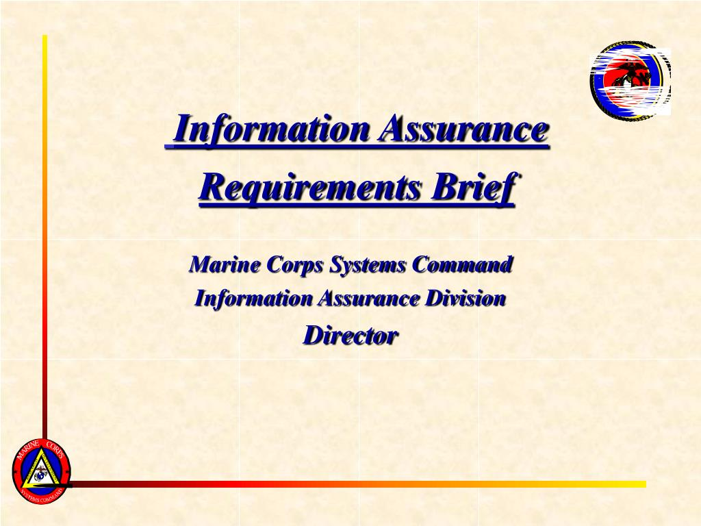information assurance requirements brief l.
