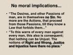 no moral implications