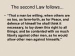 the second law follows