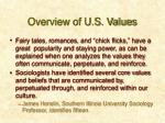 overview of u s values