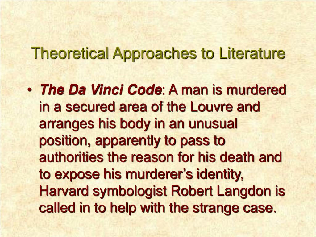 theoretical approaches to literature l.