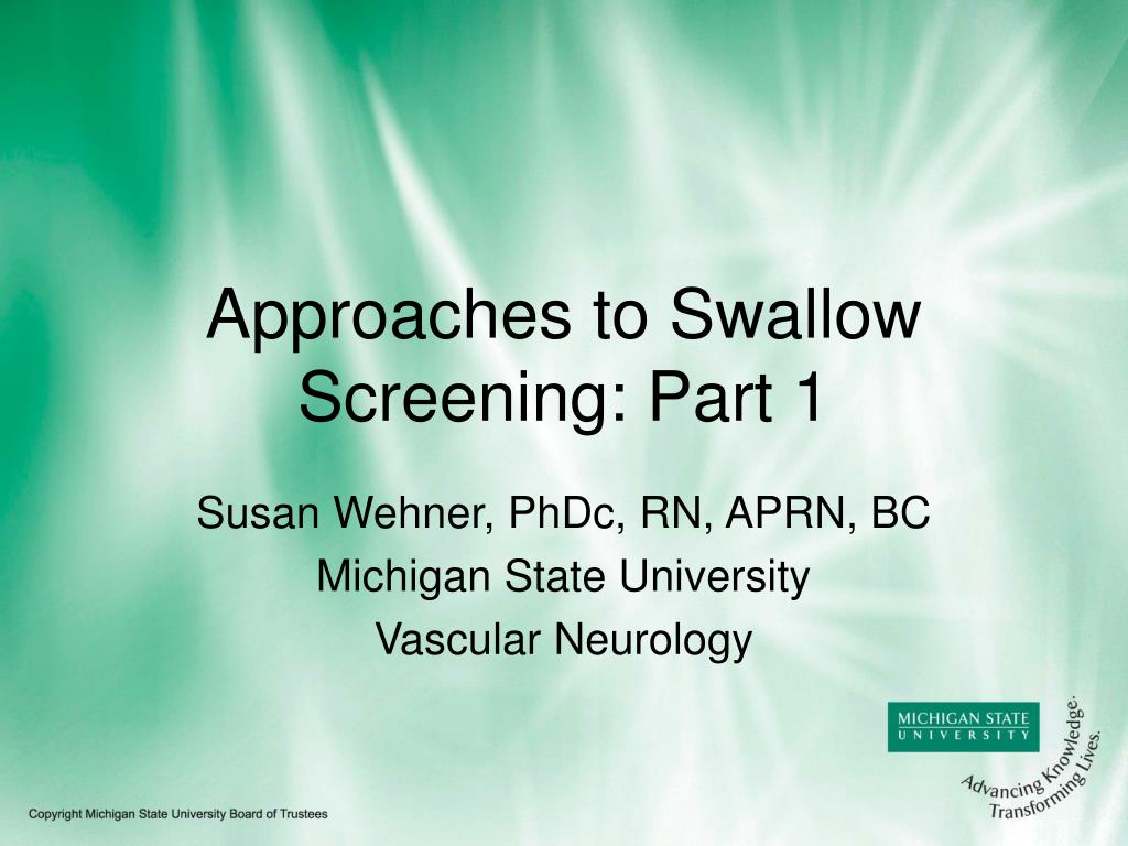 approaches to swallow screening part 1 l.