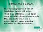stroke complications
