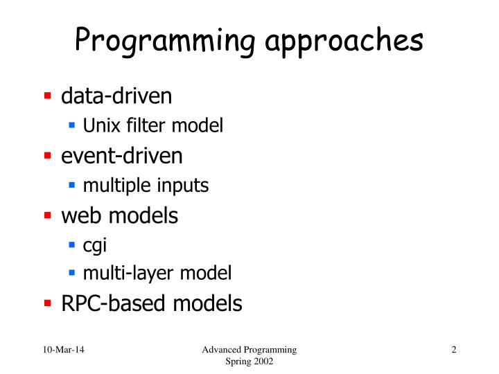 Programming approaches2