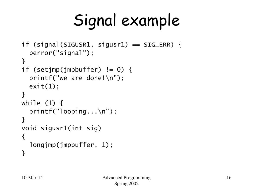 Signal example