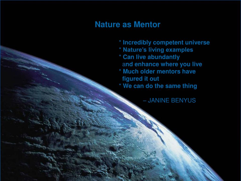 Nature as Mentor
