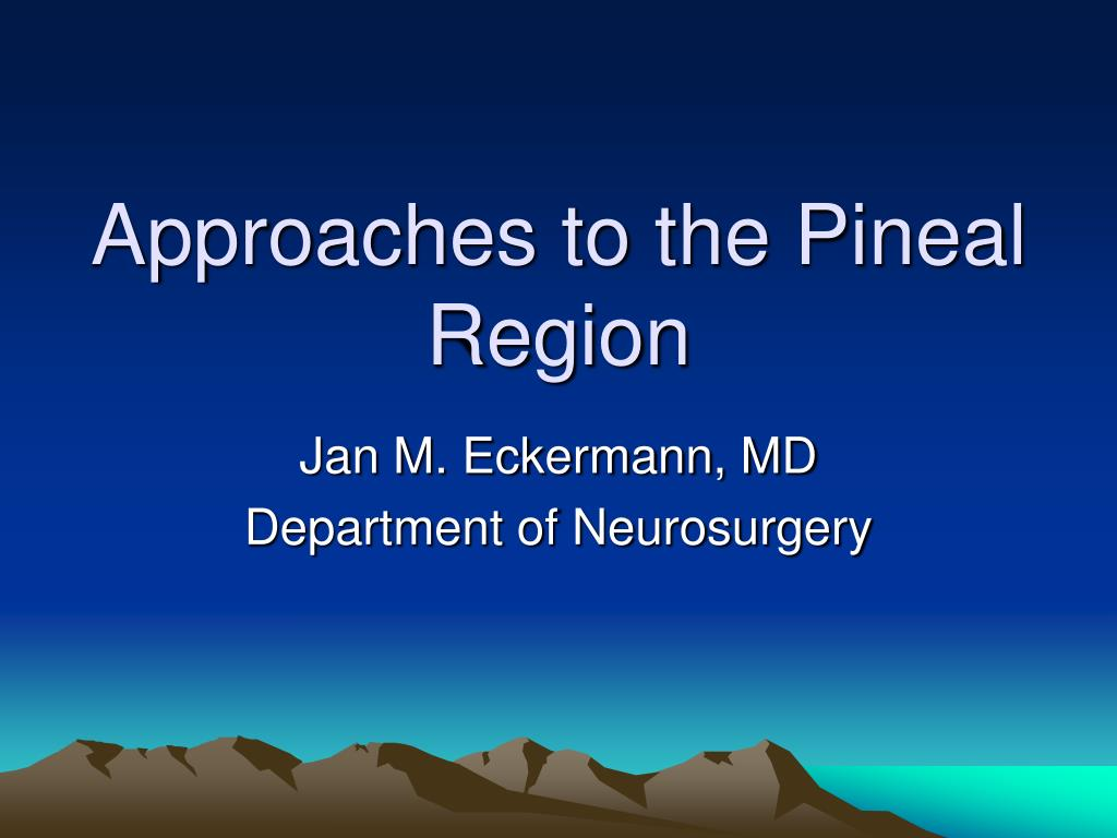 approaches to the pineal region l.
