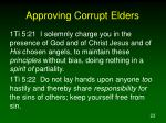 approving corrupt elders23