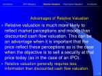 advantages of relative valuation