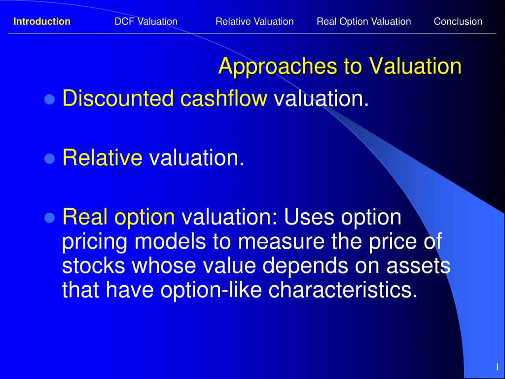 approaches to valuation l.