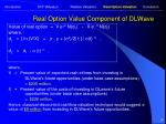 real option value component of dlwave28